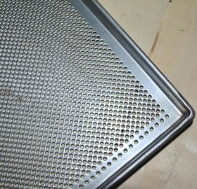 Metal Perforated Baking Serving Tray For Oven , Stainless Steel Food Tray