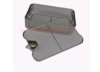 Medical Wire Mesh Sterilization Stainless Steel Basket 304 Grade Fda Passed